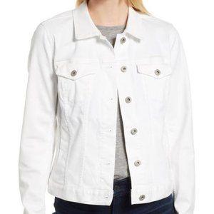 Mavi Denim Jacket Medium White Button Front